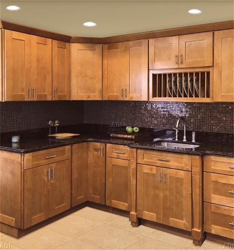 9 9 kitchen cabinet galley layout shaker door profile for Cheap rta kitchen cabinets