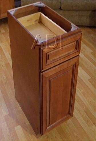 an assembled base DIY featured cabinet