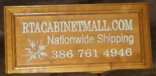 The rta cabinet mall door sign