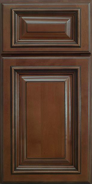 raised panel full overlay  w 5 piece drawer head