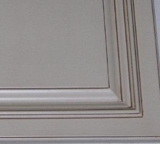 raised panel painted with glaze full overlay  w 5 piece drawer head