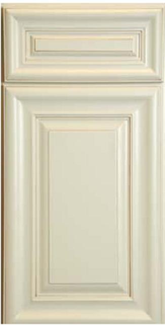 White Painted - full overlay  raised panel