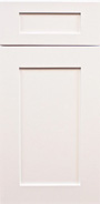 arctic white shaker door